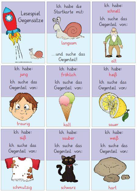 Intern Zaubereinmaleins Lesespiele Adjektive Grundschule Spiele Grundschule