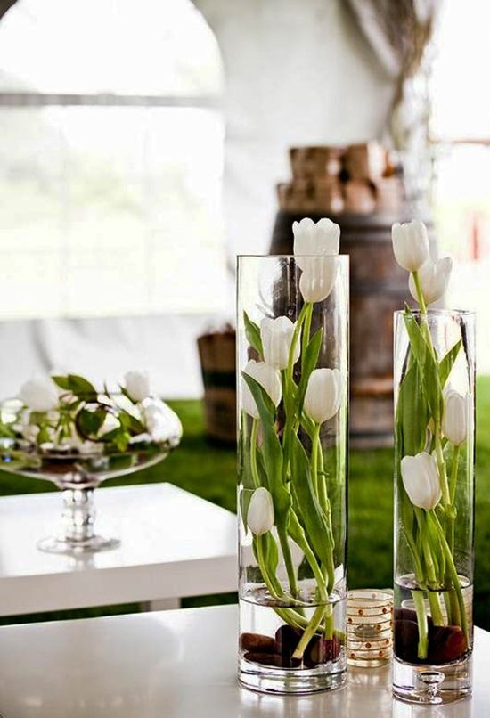 Frühlingsdeko stilvolle frühlingsdeko mit tulpen für frische raumgestaltung