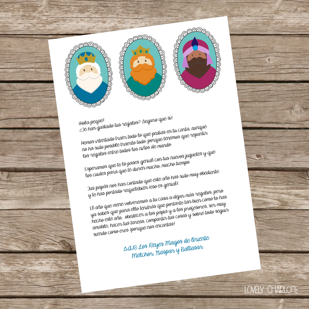 Carta imprimible gratis para los reyes magos christmas - Ideas para reyes ...
