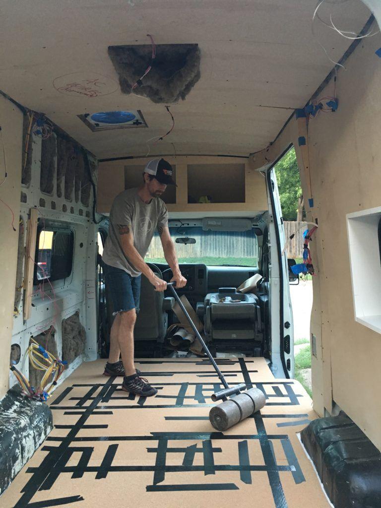 The Best Sustainable NonToxic DIY Camper Van Flooring