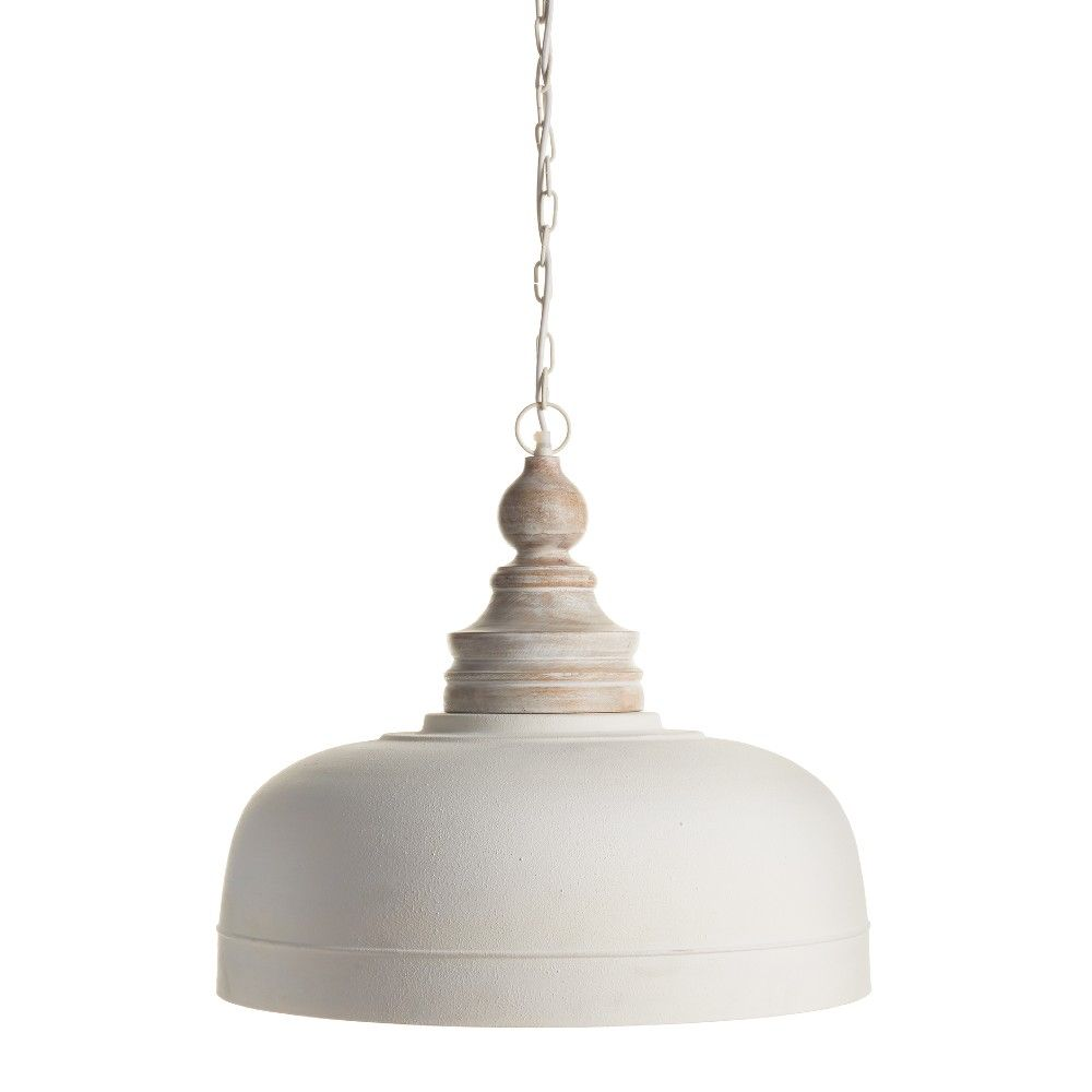 Claud French Country Wooden White Pendant In 2021 Country Pendant Lighting French Country Lighting White Pendant