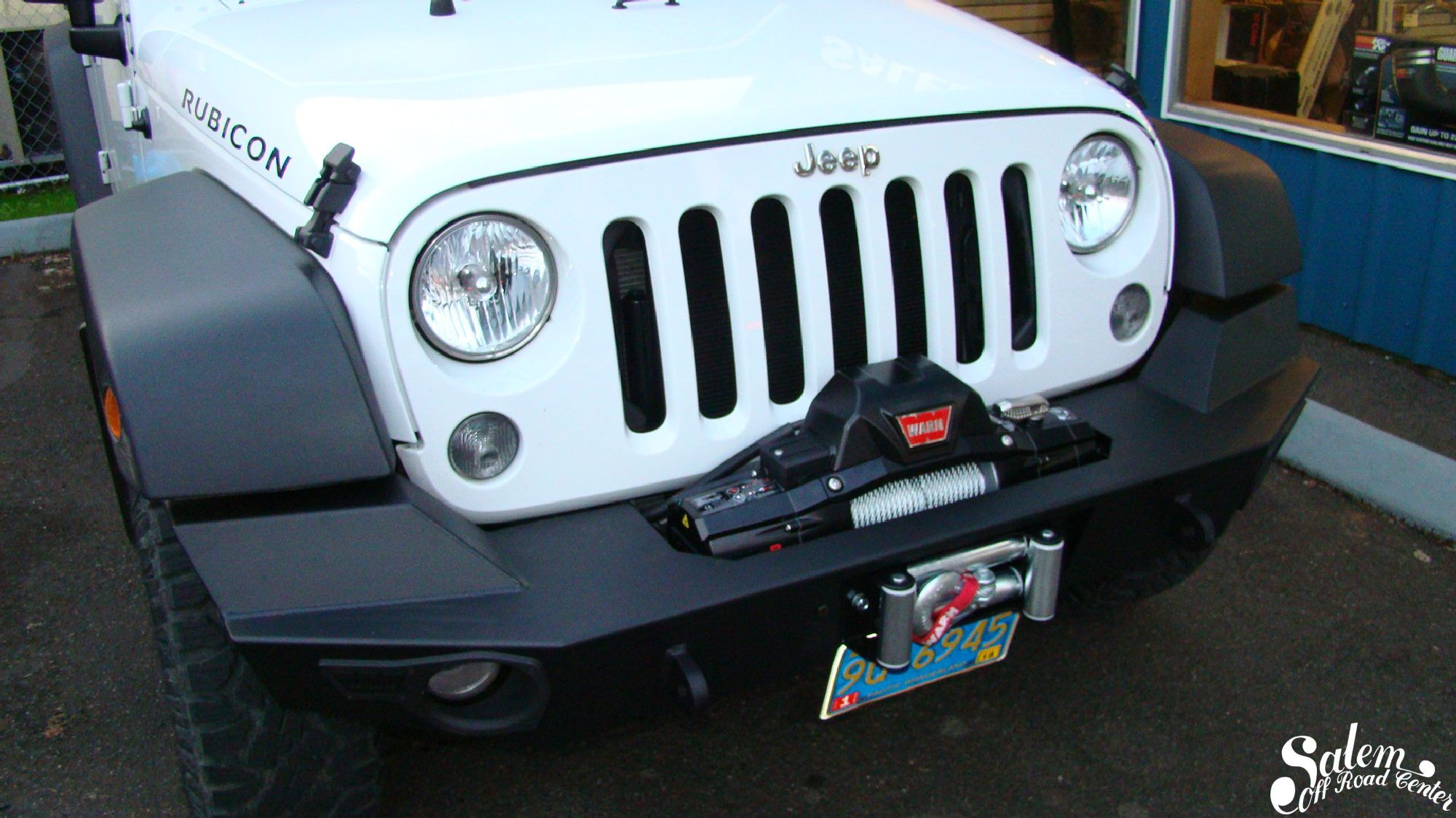 on this 2014 jeep jk we installed a warn elite series front bumper and a warn zeon 8 winch www salemoffroadcenter com [ 2000 x 1124 Pixel ]