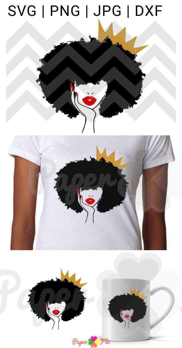 Afro svg black woman natural hair svg