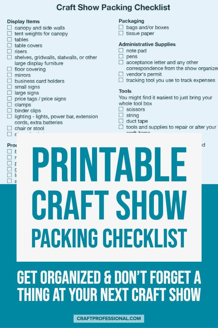 Craft Fairs - What to Bring to a Show #craftfairs