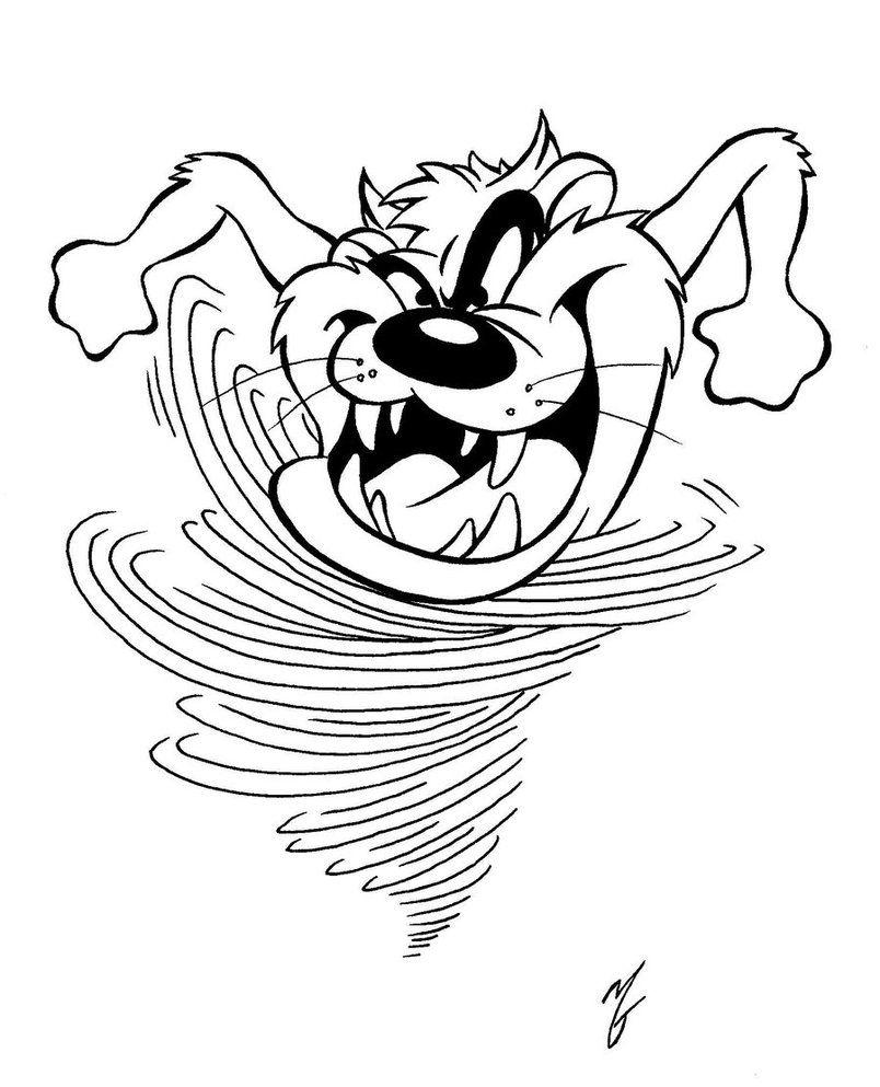 Tasmanian devil coloring pages Tasmanian devil coloring