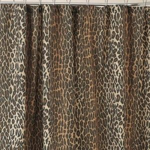 Leopard Print Shower Curtain Fabric Shower Curtains Printed