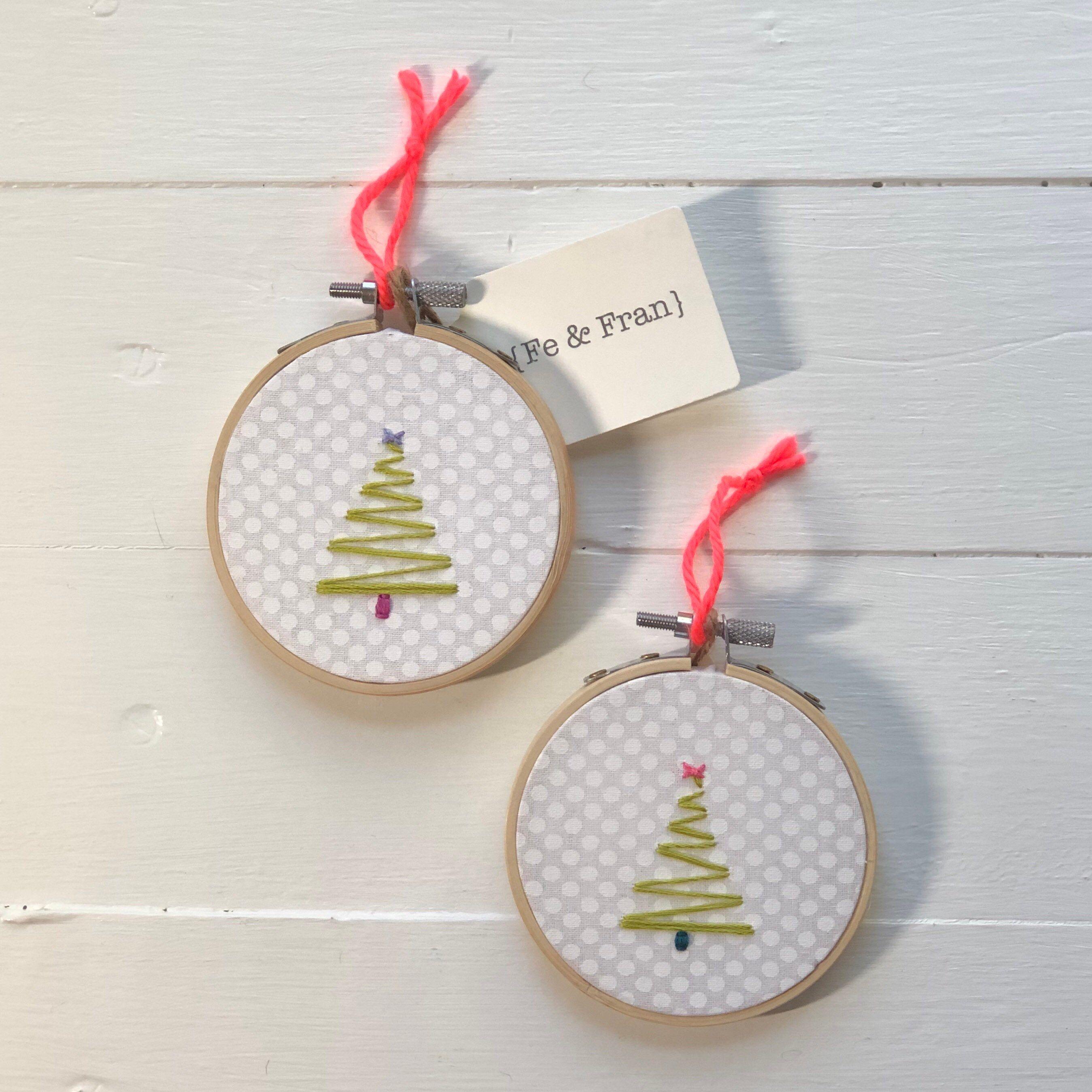 Christmas Tree Ornament Christmas Tree Embroidery Hoop Etsy In 2020 Christmas Tree Ornaments Embroidery Hoop Christmas Ornaments