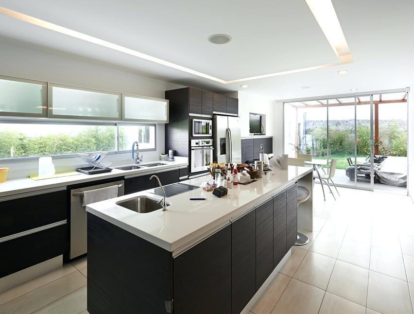 Kitchen Design Long Island Modern Kitchen With Long Rectangular Island And  Slider Door To Garden Kitchen Design Gallery Long Island