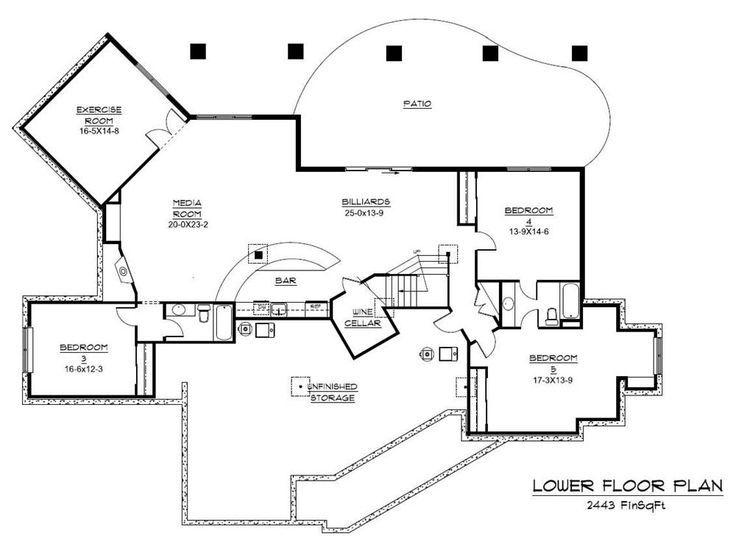 Home Floor Plans With Basement Floor Plans Basement Floor Plans House Plans House Floor Plans