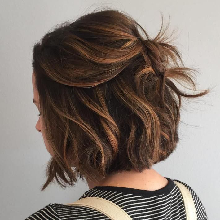 Caramel Balayage For Brown Bob Hairstyles Tumblr Instagram Cute Hairstyles For Short Hair Thin Fine Hair Short Hair Styles