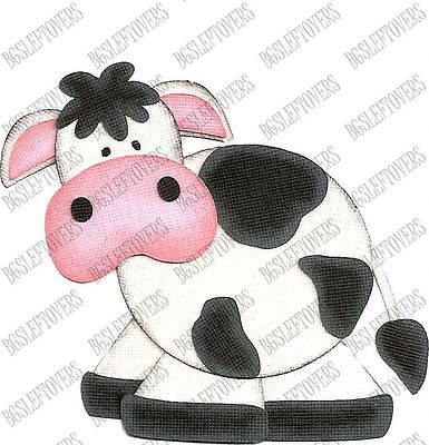 S~ 3D COW ~ Scrapbook Embellishment TM357