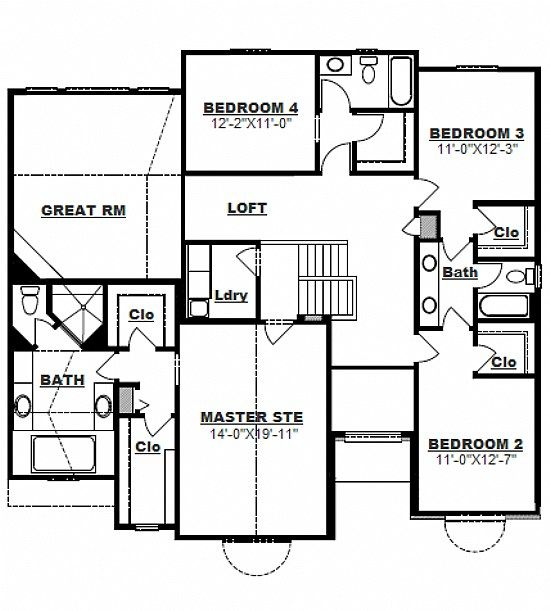 ordinary main level floor plans #3: 2977 sq ft....quad level house plan   main level floor plan