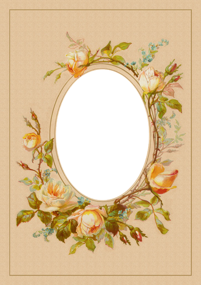 Frame Flowery Oval Shape Picture Frame Tattoos Artsy Scrapbooking Pretty Artwork