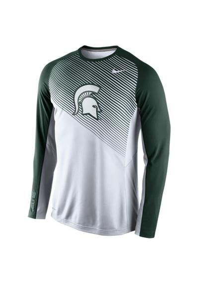 Michigan State Spartans Nike Fearless Shootaround Long Sleeve T-Shirt –  White