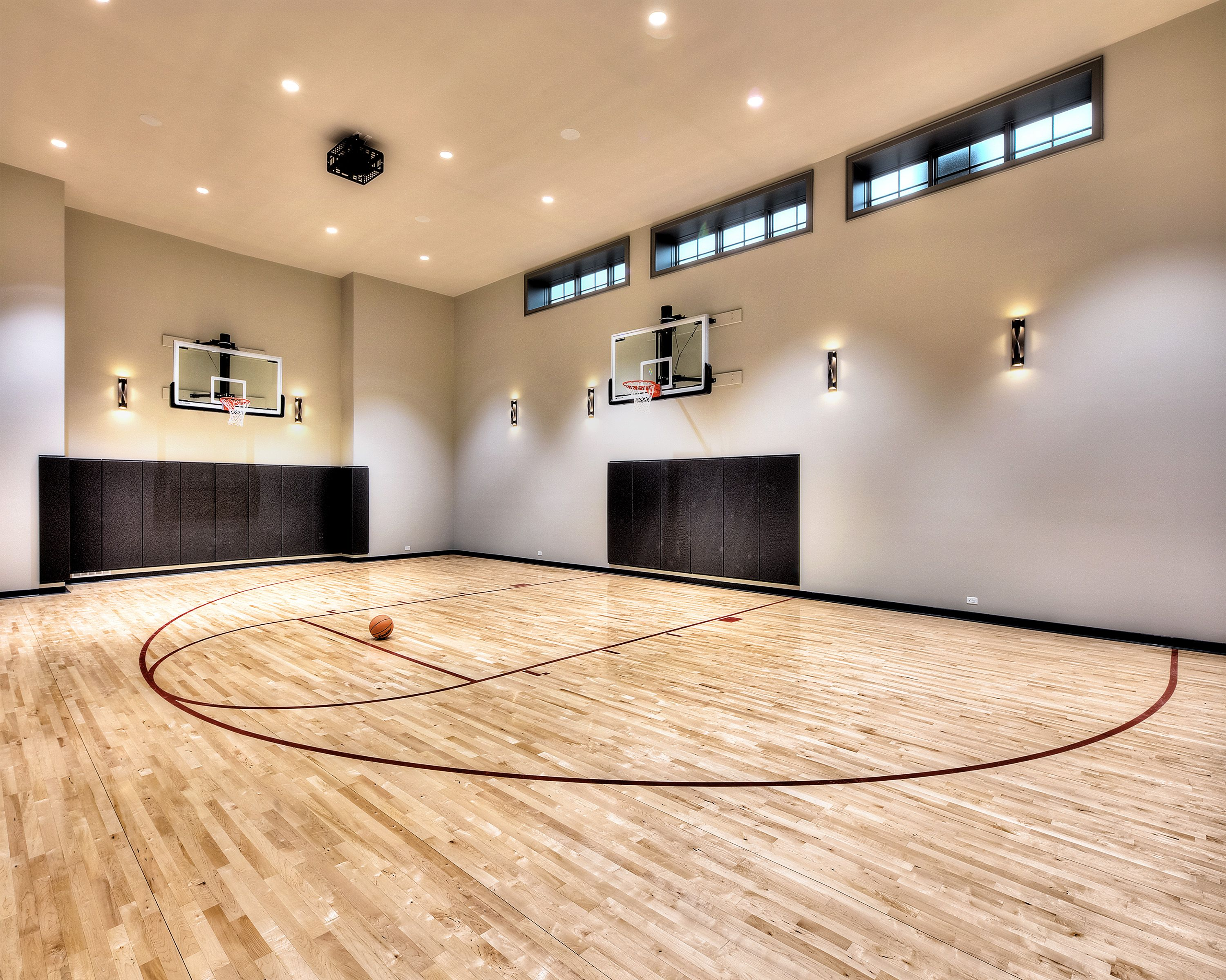 Indoor basketball court man cave pinterest salas for Indoor basketball court price