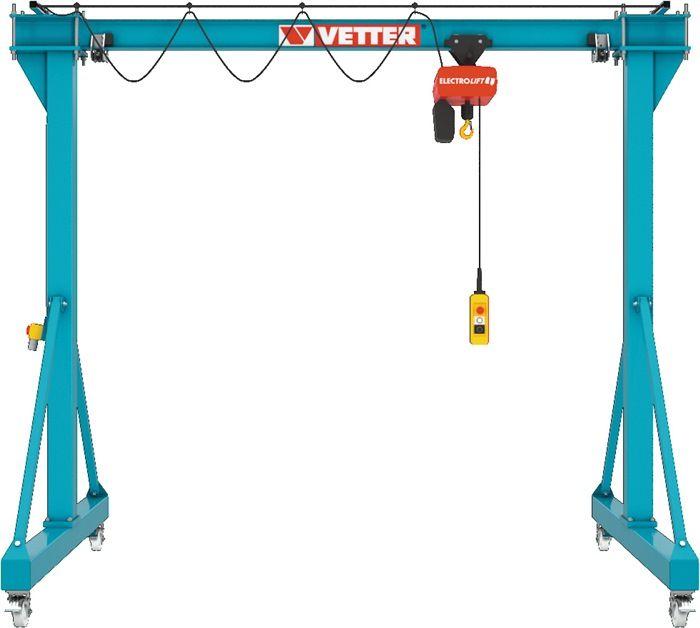 Portalkran Stahl Tragfähigkeit 500 kg lichte Breite 4000