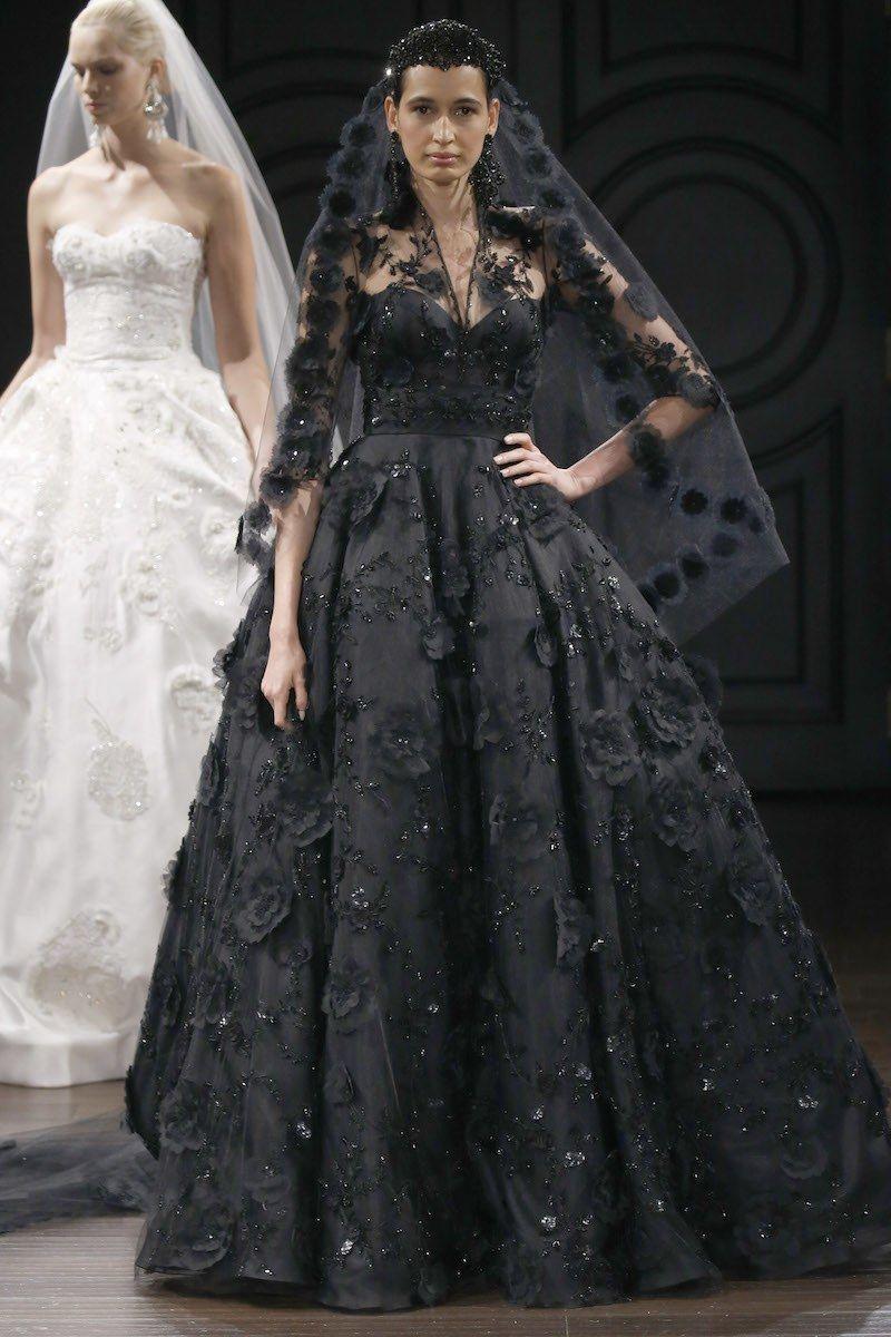 6dad5694d41 27 Black Wedding Dresses for the Alternative Bride