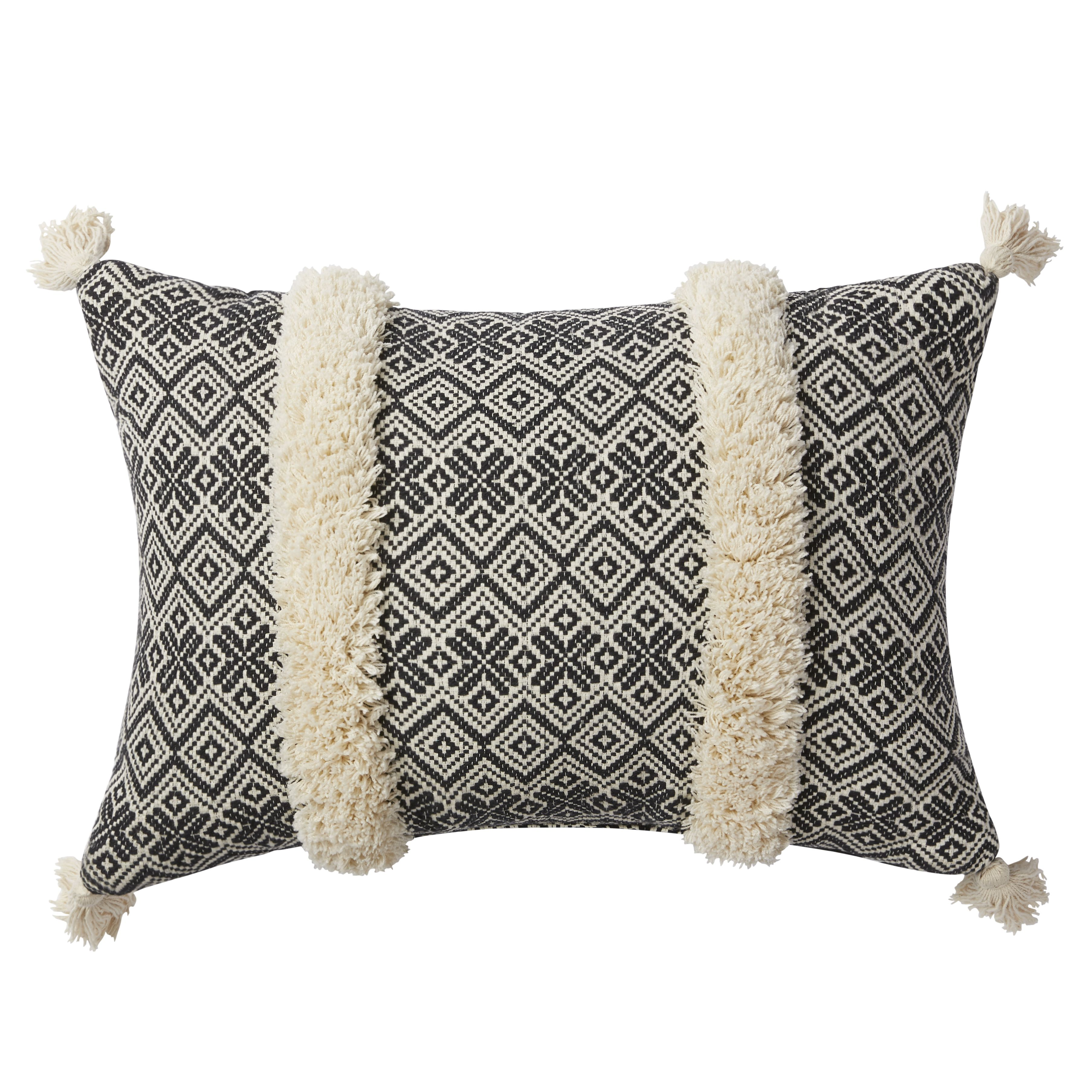 Better Homes And Gardens Handcrafted Jacquard Tufted Decorative Pillow Walmart Com Handcraft Decorative Pillows Pillows