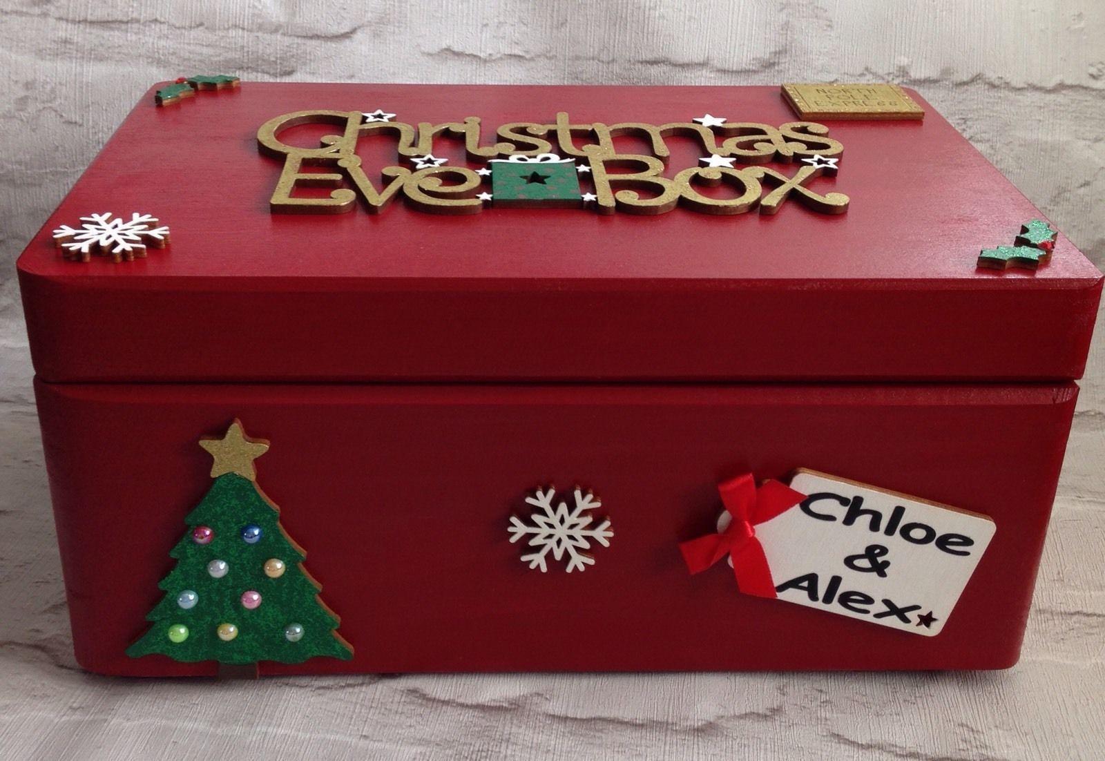 Personalised Christmas Eve Box Engraved Quality Large