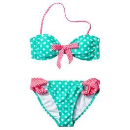 Xhilaration® Junior's 2-Piece Swimsuit -Polka Dot Print