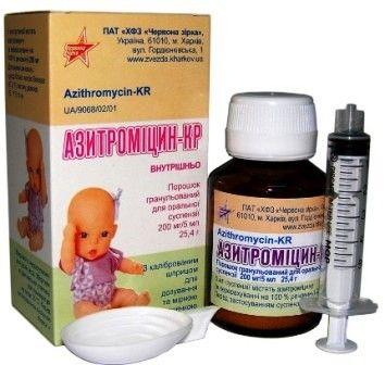 Азитромицин суспензия для детей: инструкция по применению.