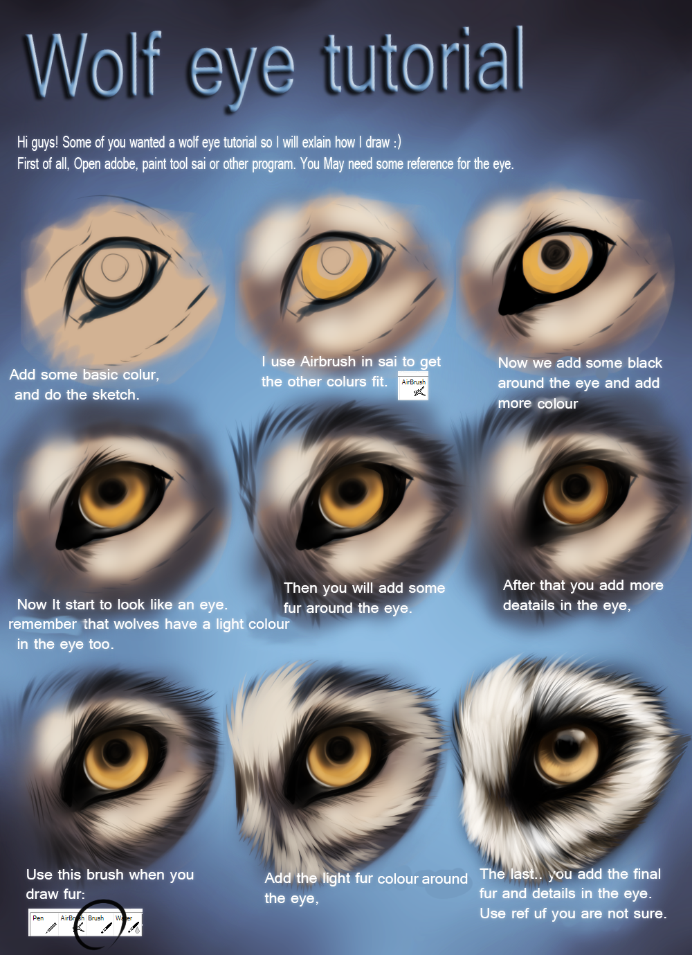Wolf Eye Tutorial By Themysticwolf On Deviantart Wolf In 2018