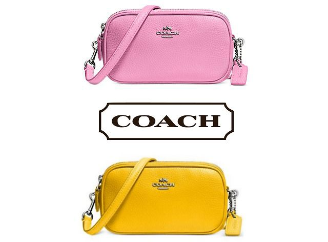 Coach Crossbody Pouch In Polished Pebble Leather (Multiple Options) $78.39 (bonton.com)