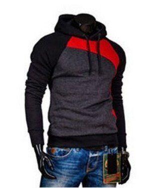 Men Autumn Winter Classical Gradient Ramp Long Sleeve Hooded Hoodie Casual Sweatshirt Outwear Top