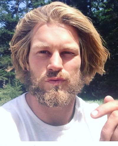 Medium Length Bob Hairstyle For Men Lange Haare Manner Medium Haare Haare Lang Wachsen Lassen Manner