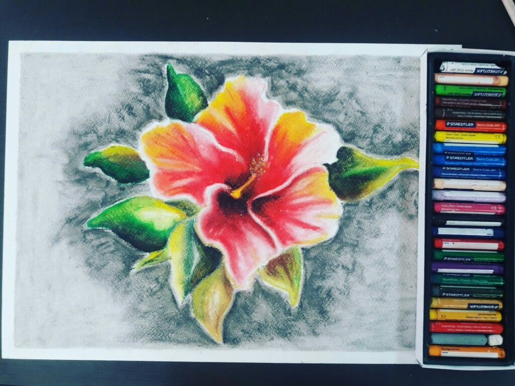 Yeso Pastel Graso Painting Art