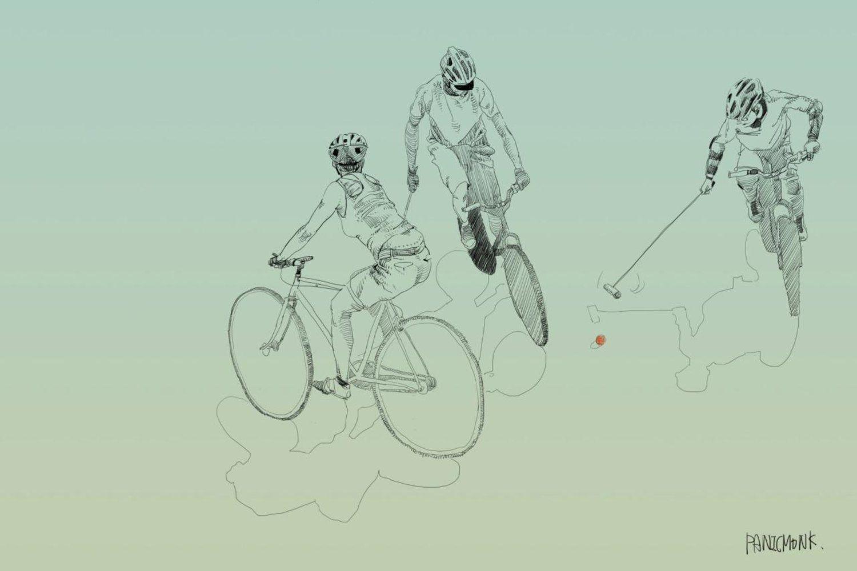 Una galleria di disegni a matita per cogliere diverse sfumature del mondo della bici