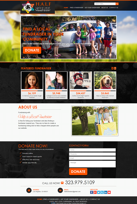 You want to help fundraisers but can't find who deserves your support? HALF (Help A Local Fundraiser) is the most suitable website for you.  This website is a free for listing your fundraising event, which in turn, helps people to find the fundraiser they want to support. Unlike other websites out there, there are no fees in creating a fundraising listing in this website.  So to check out the fundraiser nearest to you, feel free to visit their website today- http://helpalocalfundraiser.com…