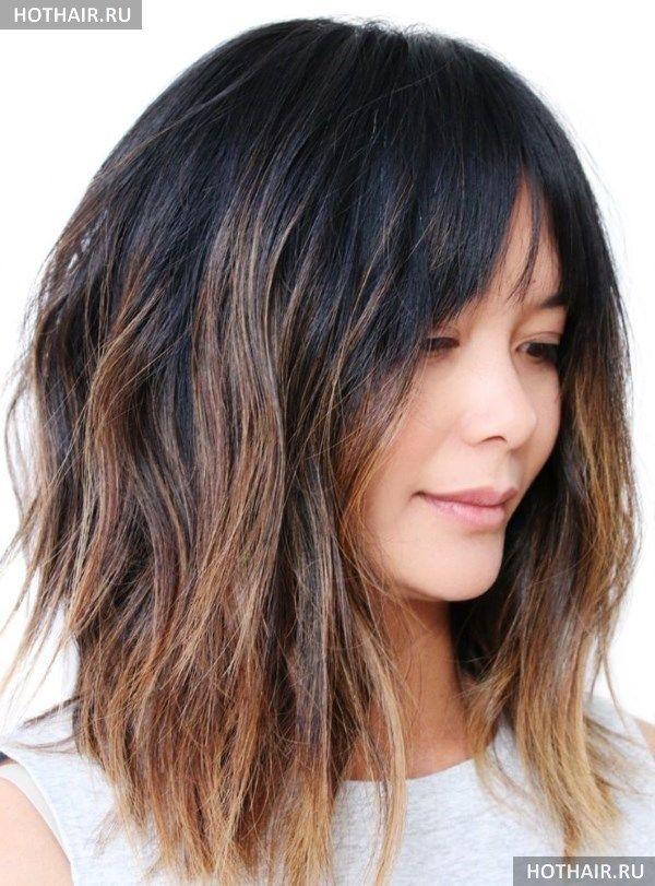 Стрижки на средние волосы 2018 (фото, новинки, тенденции ...