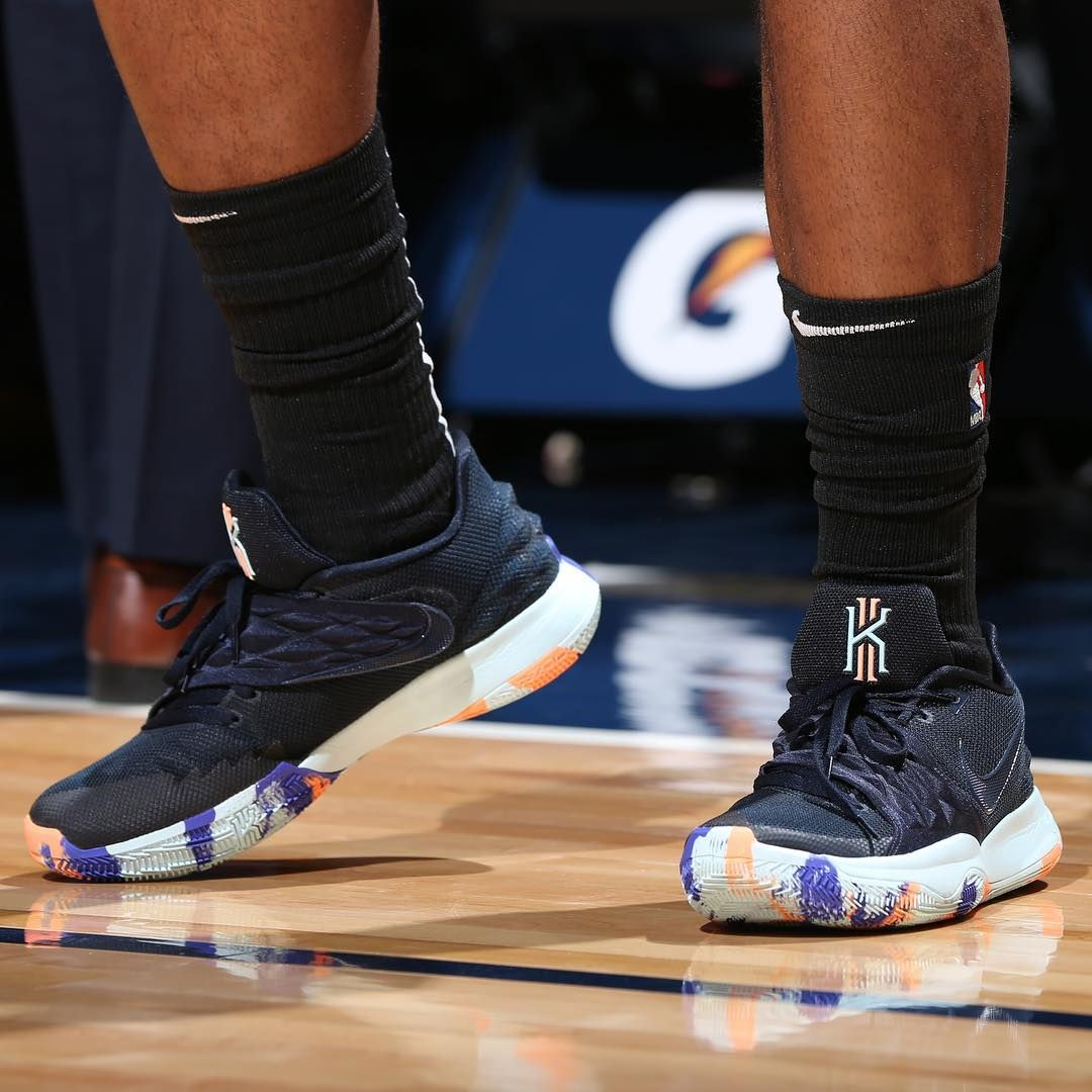 "2e9089d2f13c Bleacher Report Kicks on Instagram  ""Josh Okogie throwing down wearing the  Nike Kyrie Low. 😤"""