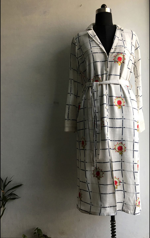 Launching designer pallavi at neel sutra rose jacket dress in ivory