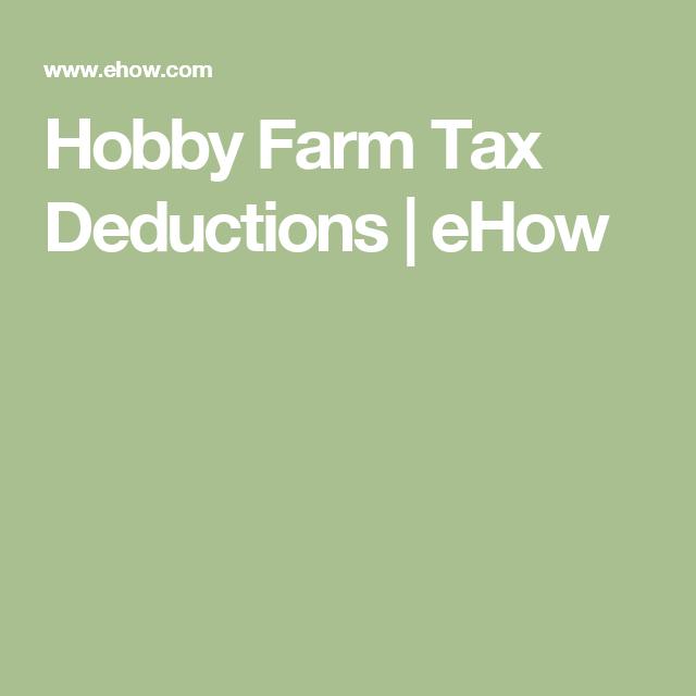 Hobby Farm Tax Deductions Sapling Tax Deductions Hobby Farms Farm
