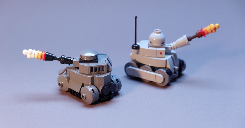 """""""Tiny Tanks"""" by GolPlaysWithLego: Pimped from Flickr"""