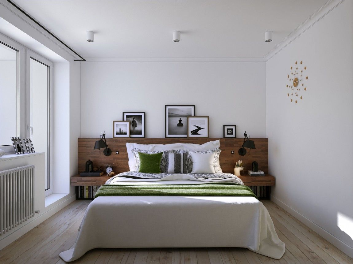 bedside sconce lighting. Wooden Headboard And Bedside Tables Along With Sconce Lighting Made For Book Lovers W