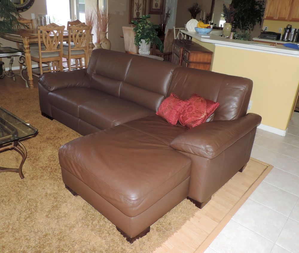 Macy S Italsofa Two Piece Chocolate Leather Sectional Sofa We Ship Anywhere Italsofa Modern With Images Leather Sectional Sofa Leather Sectional Leather Sofa Furniture