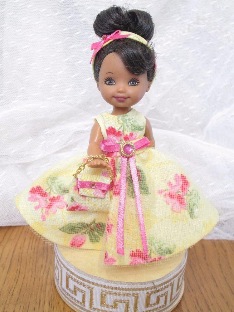 Handmade Kelly Dress Clothes Barbie Sister Chelsea JMB Design Yellow ...