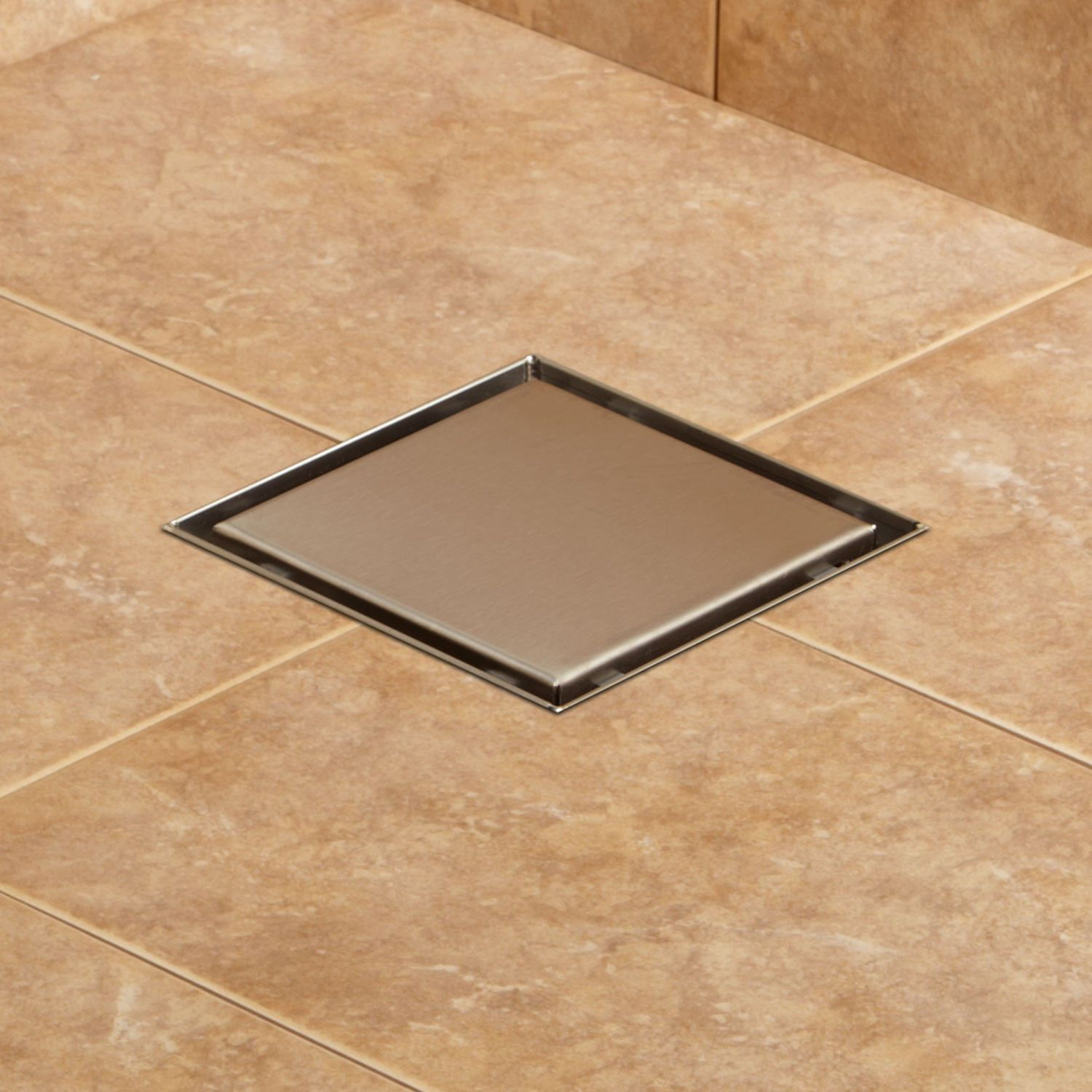 Ortiz Square Shower Drain Shower And Tub Drains Bathroom Shower Drain Shower Renovation Shower Floor