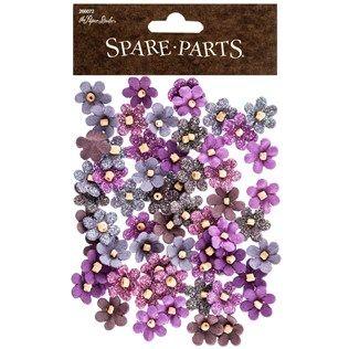 Purple Beaded Micro Flowers