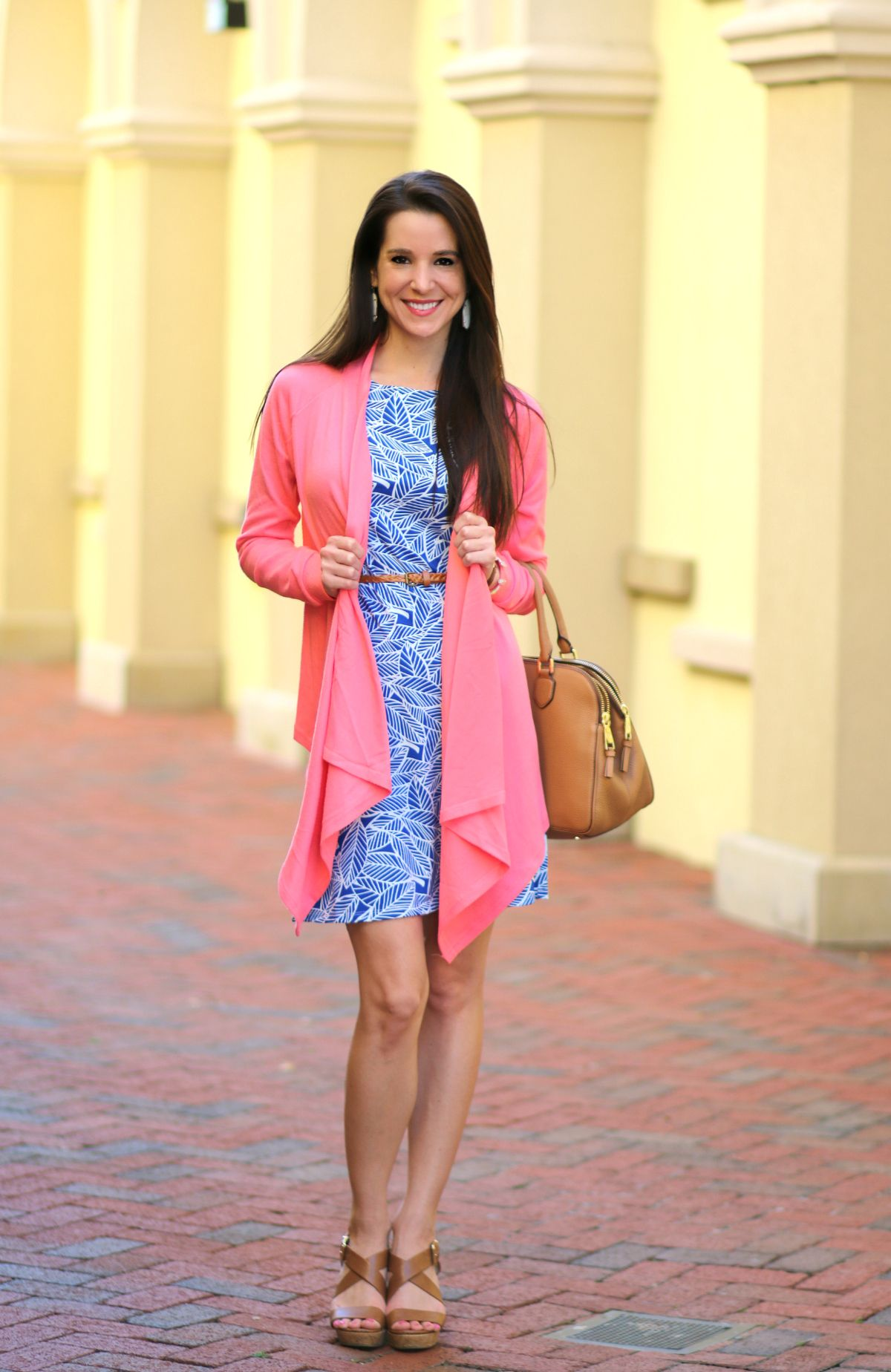 Floridian Fall Style: Coral Waterfall Cardigan | Debutante ...