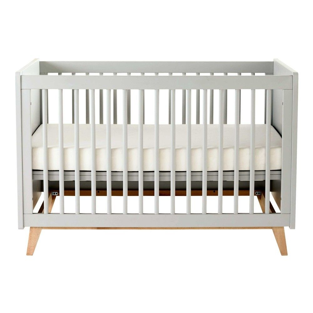 Pin By Tabitha Yuki On Chambre Bebe Grey Cot Baby Decor White Cot