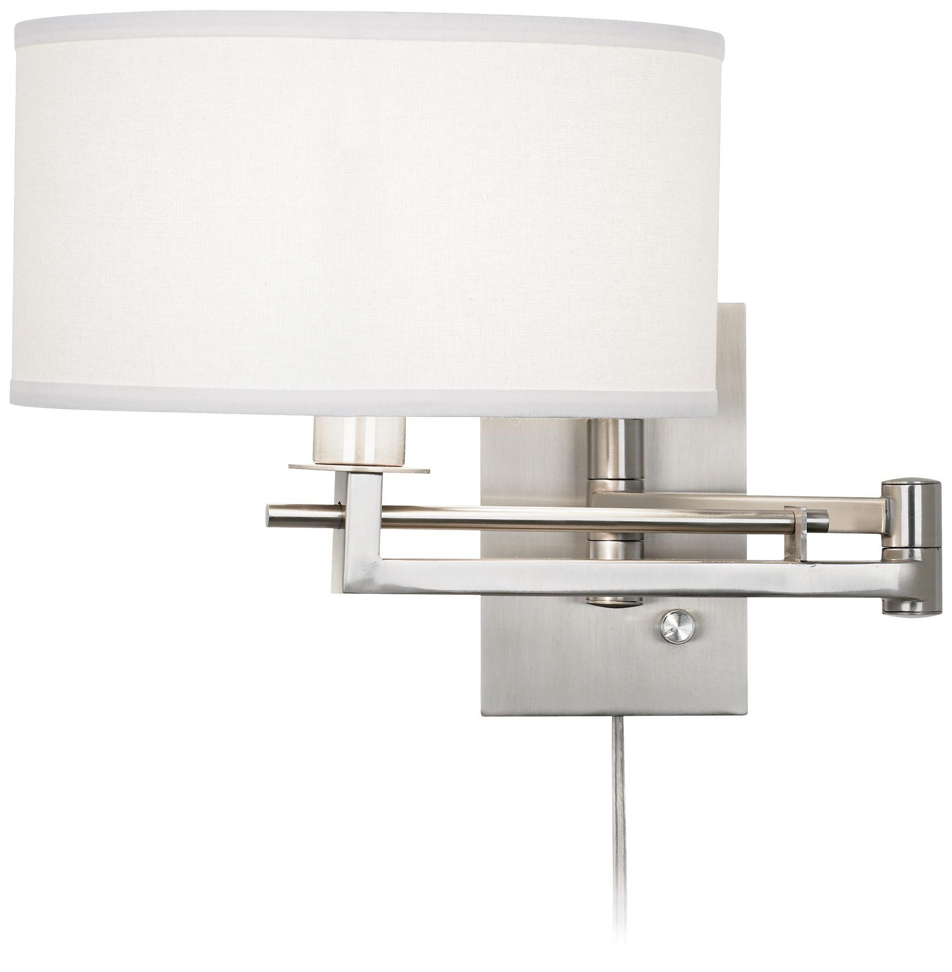 Possini Euro Aluno Plug In Style Swing Arm Wall Lamp M9450 Lamps Plus Swing Arm Wall Lamps Plug In Wall Lamp Swing Arm Wall Light