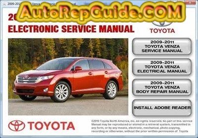 download free toyota venza 2009 2011 electronic service manual rh pinterest com Toyota Tires Toyota Tacoma Factory Manuals