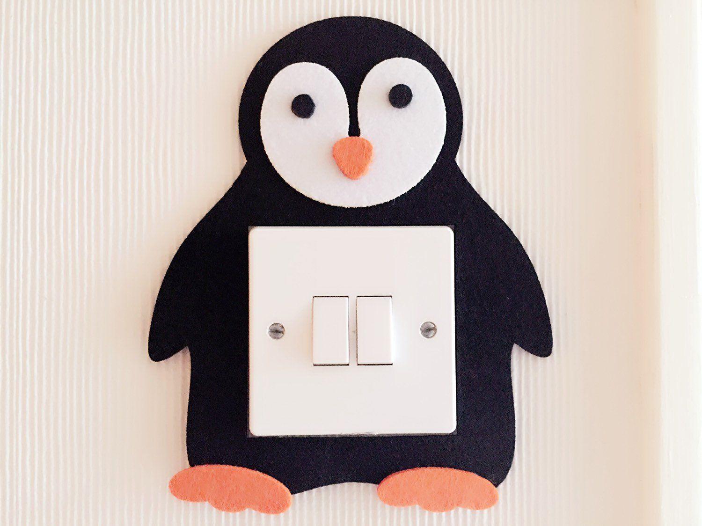 Super Cute 3D Penguin Light Switch Wall Stickers, High