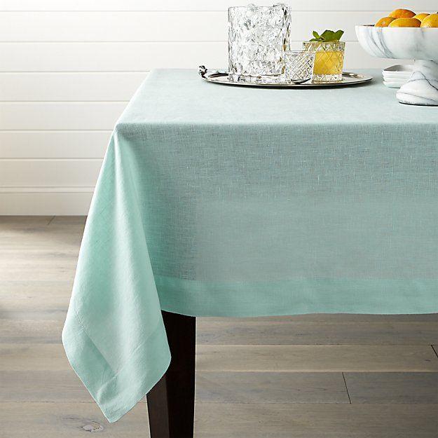 About Us Crate Barrel Linen Tablecloth Crates