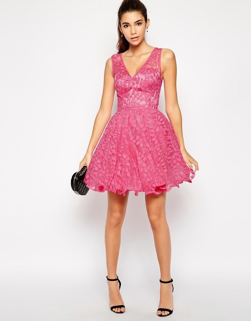 Chi Chi London | Chi Chi London Rebecca Lace Prom dress at ASOS ...