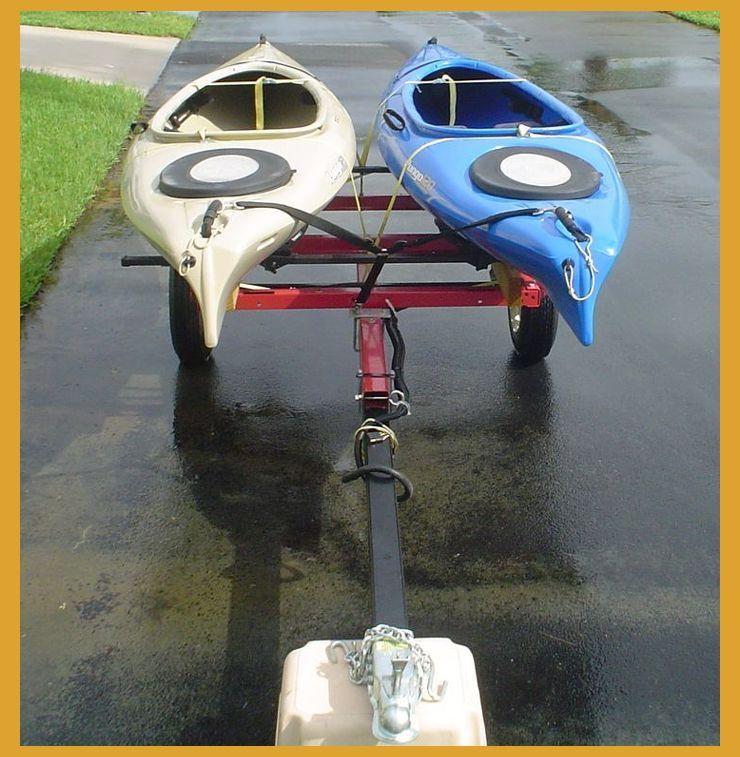 Mini trailer 2 kayaks How To Transport 2 Kayaks How
